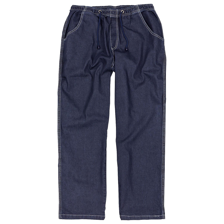 jogging jeans mit gummibund schlupfhose in bergr en. Black Bedroom Furniture Sets. Home Design Ideas
