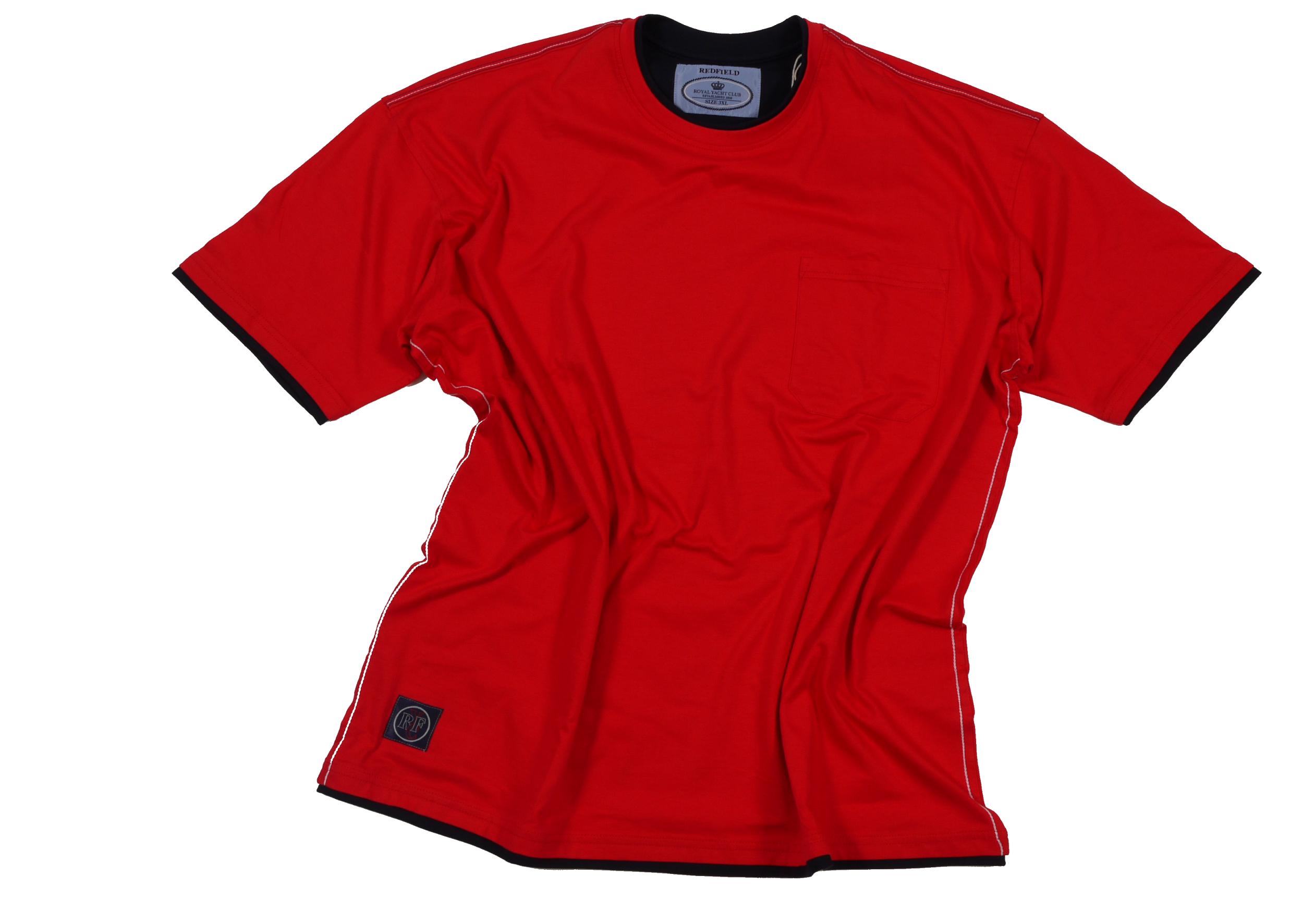 rotes t shirt mit brusttasche von redfield in bergr e. Black Bedroom Furniture Sets. Home Design Ideas